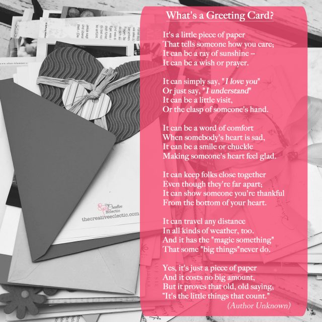 What is a greeting card the creative eclectic what is a card find out how a simple hand drawn card made a difference m4hsunfo