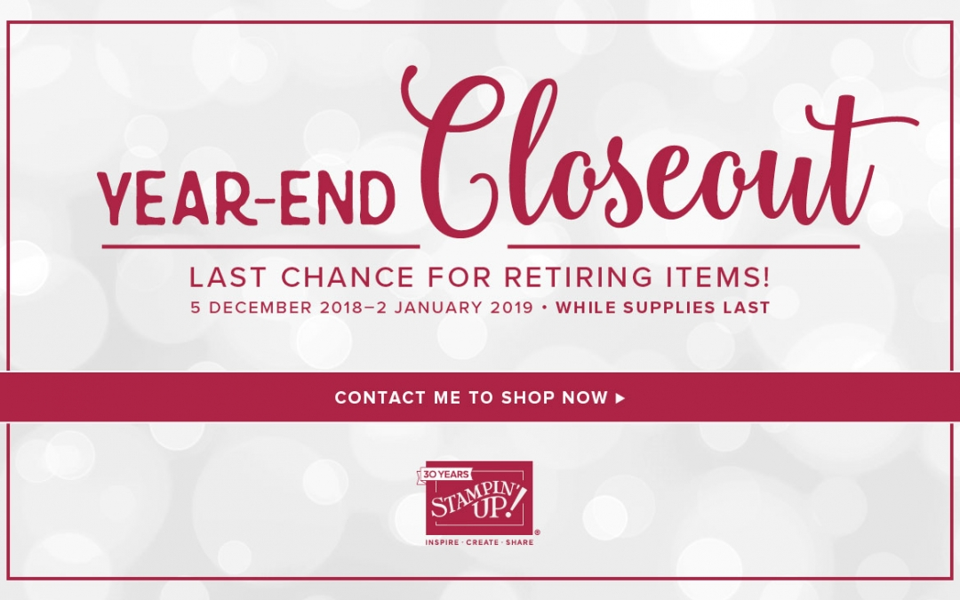 Year End Close Out Sale has begun