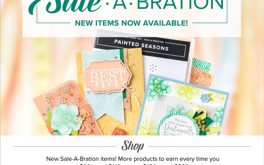 New sale-a-bration rewards are here!