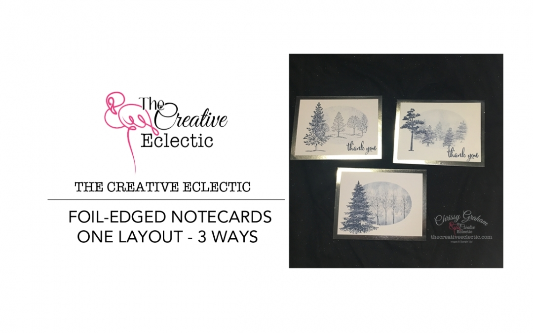 Lovely As a Tree Note Cards #simplestamping