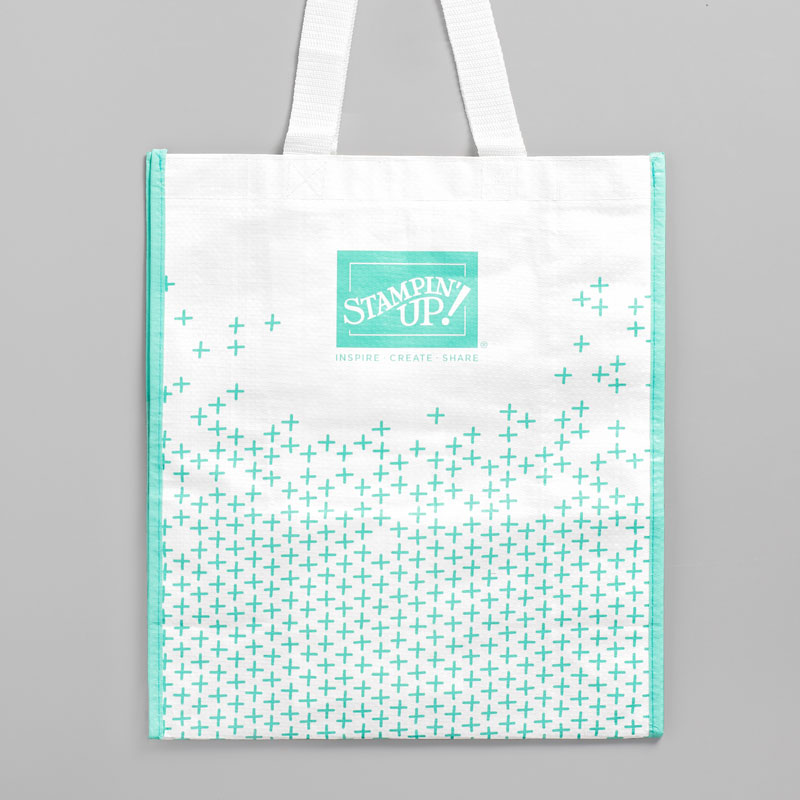 Reusable Stampin' Up! Shopping Bags available now! Imagine carryign your groceries and craft supplies in these cute Coastal Cabana totes