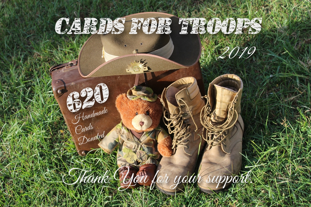 2019 Cards for Troops- Thank you for the 620 Cards that will enable troops to write to their loved ones