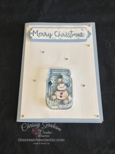 Shake it up with this Snowman Season Shaker Card #shakercard #handmadecard #snowmanseason #stampinup